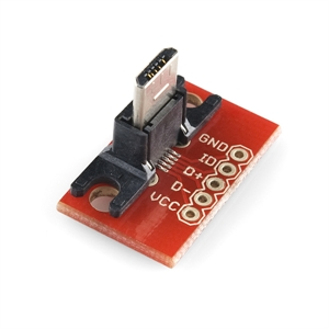 Picture of USB MicroB Plug Breakout Board