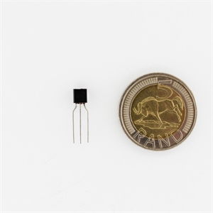 Picture of NPN transistor,P2N2222A 0.6A Ic 10Vce