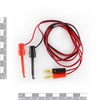 Picture of Test hook clip to banana plug lead ( Black + Red)